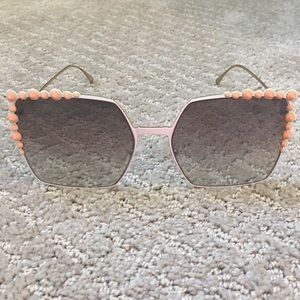 EUC Fendi square cat eye sunglasses - FF 0259/S